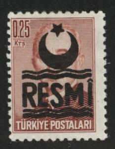 TURKEY Scott o24 MH*  official overprint