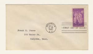 US - 1940 - Scott 895 FDC - 3c 50th Anniversary Pan-American Union