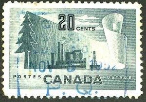 CANADA #316 USED BLUE CANCEL