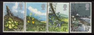 Great Britain Sc 855-8 1979 Wildflower stamps used