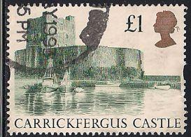 Great Britain 1445 Used - £1 Carrickfergus Castle