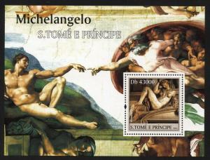 St Thomas 2004 Michelango Paintings S/S set NH