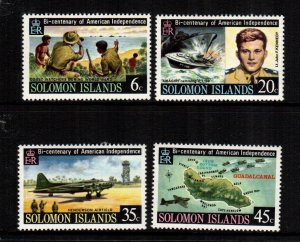 Solomon Islands MNH 333-6 Bicentenary American Independence
