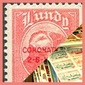 Zillions of stamps to go - Old stock clearance  # LUNDY iSLAND  only#  100+
