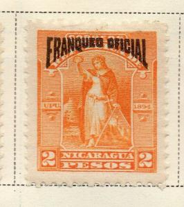 Nicaragua 1894 Early Issue Fine Mint Hinged 2P. Official Optd 323734