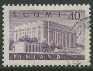 Finland - Scott 337 - House of Parliment -1956- Used - Single 40m Stamp