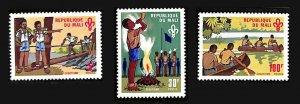 MALI Sc#145-147 BOY SCOUTS (1970) MNH