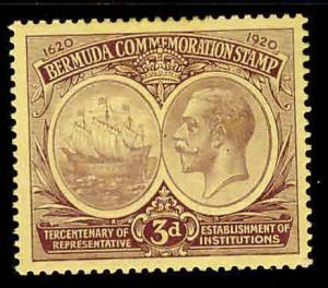 BERMUDA Scott 58 MH* Seal of Colony and KGV 1920-21 CV $15