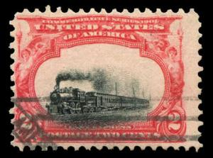 momen: US Stamps #295 Used Sinking Train Variety