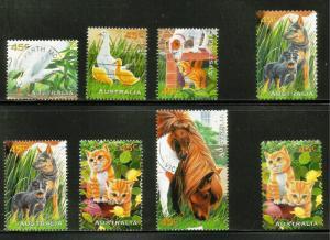 Australia Pets 1996 Scott# 1558-1565 Used