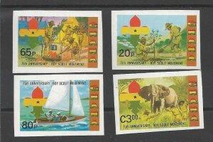 1982 Scouts Ghana 75th anniv sailing elephant IMP