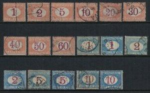 Italy #J3-11,3-20  CV $242.22