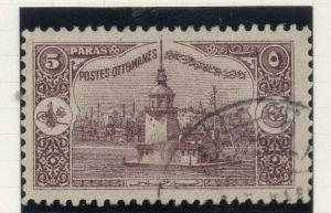 Turkey  1914 Early Issue Fine Used 5p. 320850