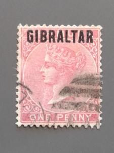 Gibraltar 2 F-VF Used. Scott $6.50