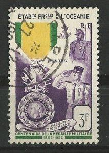 French Polynesia # 179 Military Medal (1) VF Used