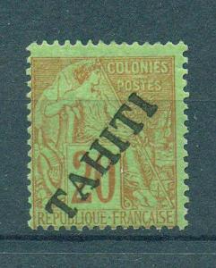 Tahiti sc# 11 mh cat value $72.50