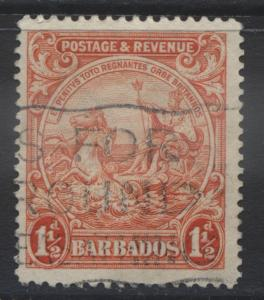 Barbados - Scott 168b - Seal of Colony -1932 - FU -  Single 1.1/2p Stamp