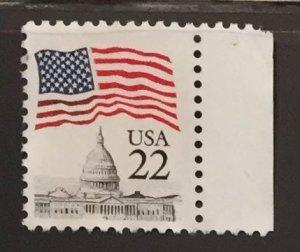 US #2114 Used F/VF - Flag over Capital 22c