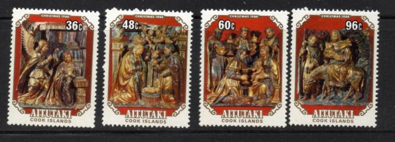 Aitutaki Sc 356-9 1984 Christmas stamp set mint  NH