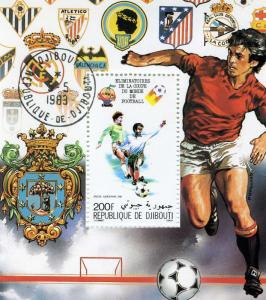 FIFA FOOTBALL WORLD CUP BARCELONA s/s Perforated Fine Used