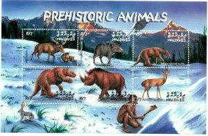 Maldives MNH S/S Prehistoric Animals Dinosaurs