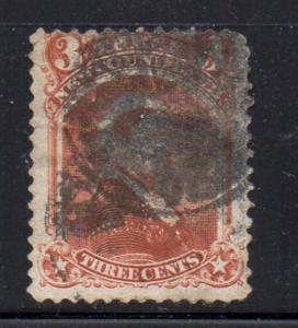 Newfoundland Sc 33 1870 3 c vermilion Victoria stamp used