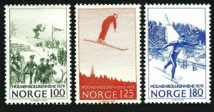 Norway 741-743,MNH.Michel 790-792. 1979.Ski jump,Cross country race.