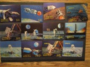 Bhutan 1969 S# 108-108k, 12v Apollo 11 Moon Landing stamp Issues, all MNH OG