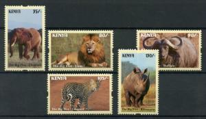 Kenya 2017 Big 5 Lion Leopard Elephant Rhino Buffalo 5V, MNH