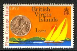 British Virgin Islands; 1973: Sc. # 254: **/MNH Single Stamp