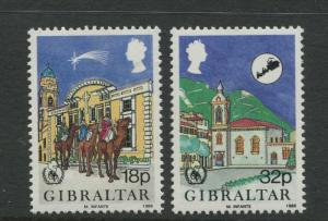 Gibraltar - Scott 496-497 - General Issue -1986 - MNH - Set of 2 Stamps
