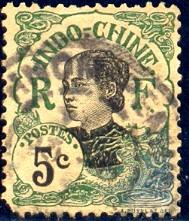 Annamite Girl, Indo-China stamp SC#44 used