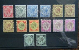 Jamaica 1912 - 20 values to 1s x 2 with some shades MM