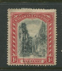 Bahamas -Scott 48 - Queens Staircase Issue -1911 - Used - Single 1p Stamp