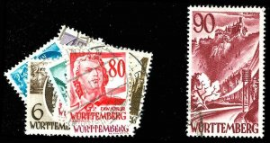 GERMAN OCC. OF WURT. 8N28-37  Used (ID # 73430)