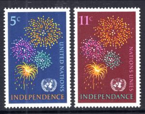 UN New York 168-169 MNH VF