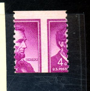 US #1058 MINT MISPERED FVF NH