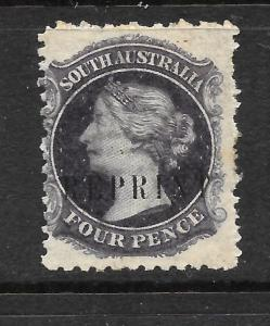 SOUTH AUSTRALIA 1884  4d  BLACK   QV   REPRINT   MNH    P11 1/2 x 12 1/2