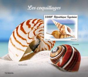 TOGO - 2019 - Shells - Perf Souv Sheet  - M N H