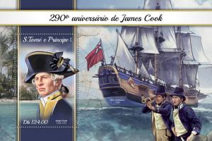 SAO TOME - 2018 - Captain James Cook - Perf Souv Sheet - MNH