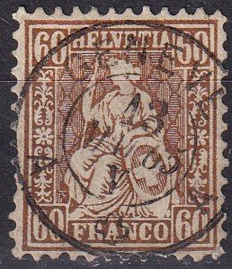 Switzerland #48  F-VF Used CV $215.00  (Z9214)