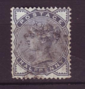 J19763 Jlstamps 1880-1 great britain used #98 queen