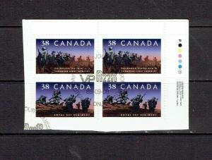 CANADA 1989  INFANTRY REGIMENTS - SCARCE URPB - ON PIECE SCOTT 1250ii - USED