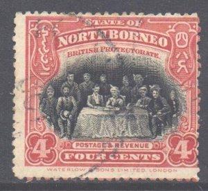 North Borneo Scott 140 - SG164, 1909 Sultan 4c cds used