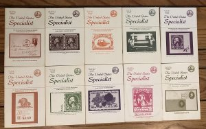 10 Different Volumes of The United States Specialist from 1982