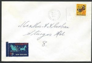 NEW ZEALAND 1970 cover with Help Fight TB cinderella.......................49966