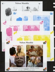 Mali 2013 Nelson Mandela #3 sheetlet containing four valu...