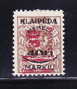 Memel N89 MHR Lithuanian Occupation