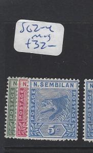 MALAYA  NEGRI SEMBILAN   (PP2507B)  1C-5C TIGER   SG 2-4   MOG