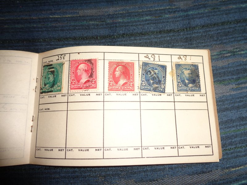 US 1800'S COLLECTION IN APPROVAL BOOK